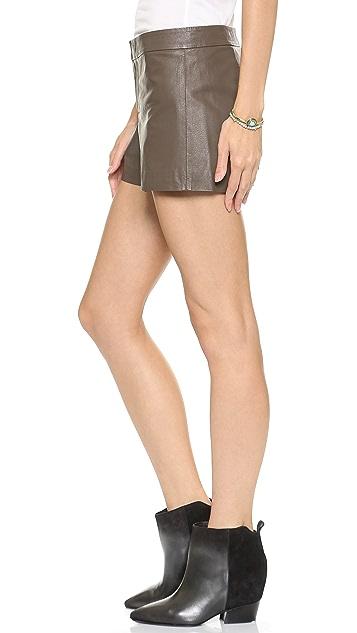 BB Dakota Thekla Leather Shorts
