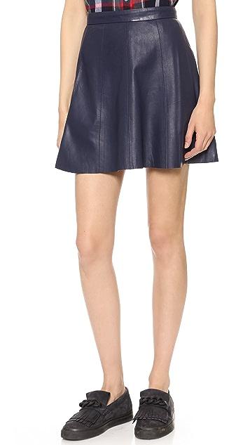 BB Dakota Dakota Collective Avani Leather Panel Skirt