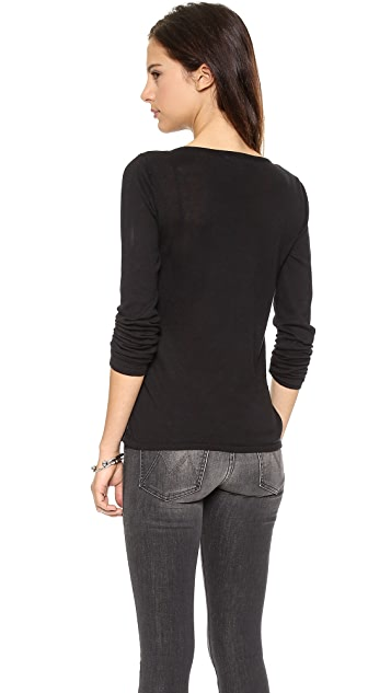 BB Dakota Dakota Collective Lennie Leather Front Sweater