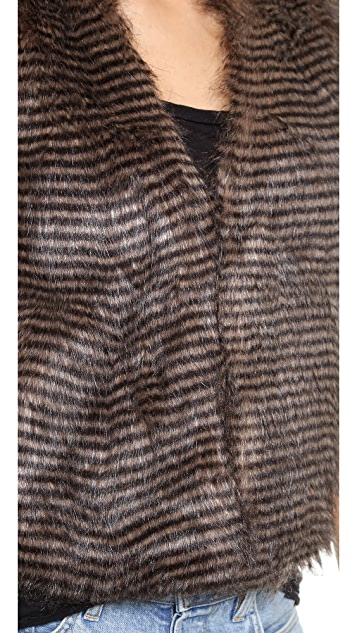 BB Dakota Macklin Fur Vest
