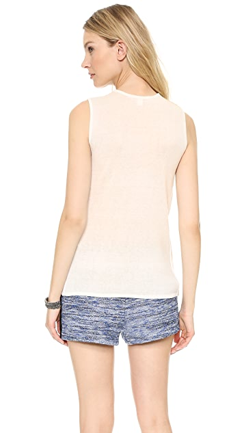 BB Dakota Knit Back Leather Tank