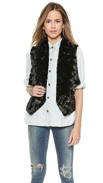 BB Dakota Roscoe Faux Fur Vest
