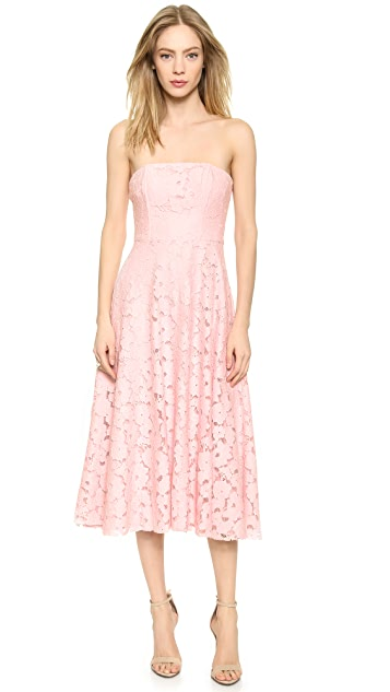 BB Dakota Alva Strapless Lace Midi Dress