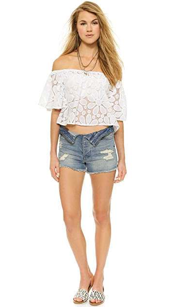 BB Dakota Jack by BB Dakota Dia Floral Crop Top