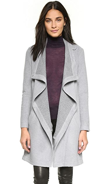 BB Dakota Grady Drape Front Coat
