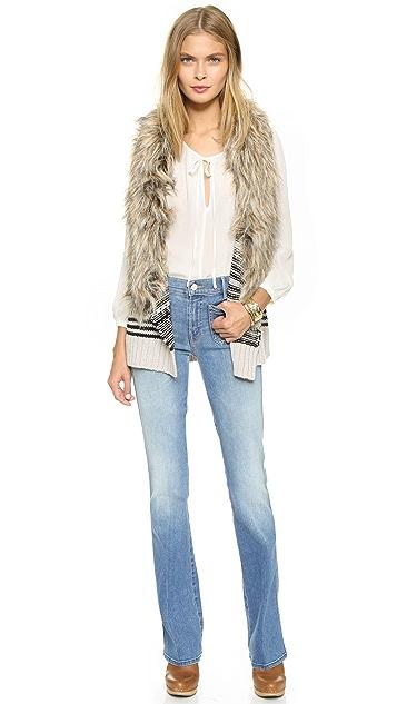 BB Dakota Jase Sweater Vest with Faux Fur