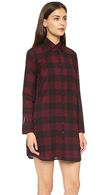 BB Dakota Cotter Buffalo Plaid Dress