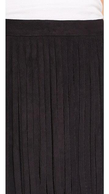 BB Dakota Narelle Faux Suede Fringe Skirt