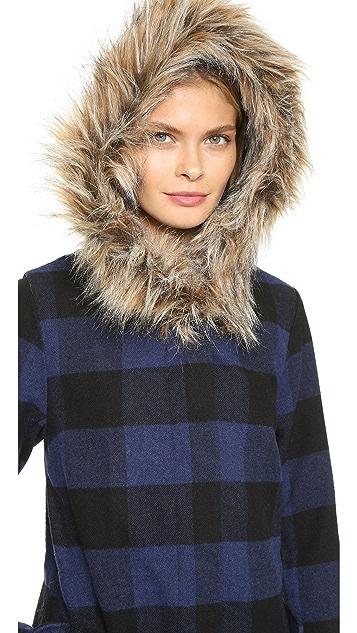 BB Dakota Jaslene Buffalo Plaid Coat