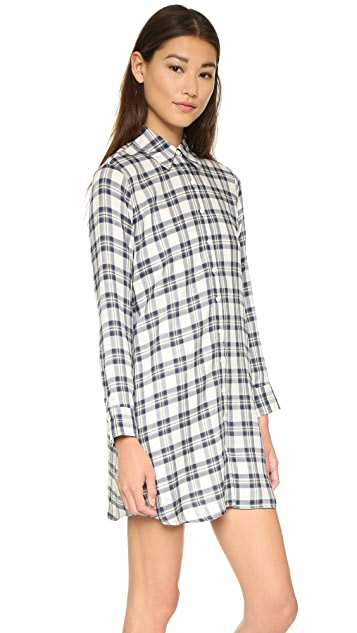 BB Dakota Ruger Plaid Shift Dress