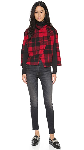 BB Dakota Jack by BB Dakota Sheeran Plaid Capelet