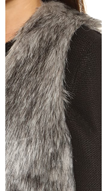 BB Dakota Jack by BB Dakota Castleton Faux Fur Vest