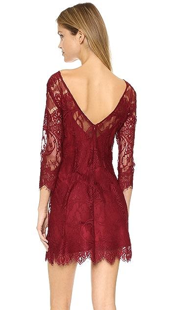 BB Dakota Natalia V Back Lace Dress