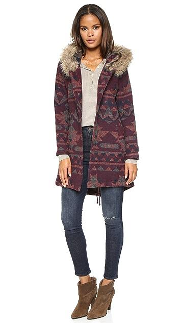 BB Dakota Dusty Patterened Jacquard Coat