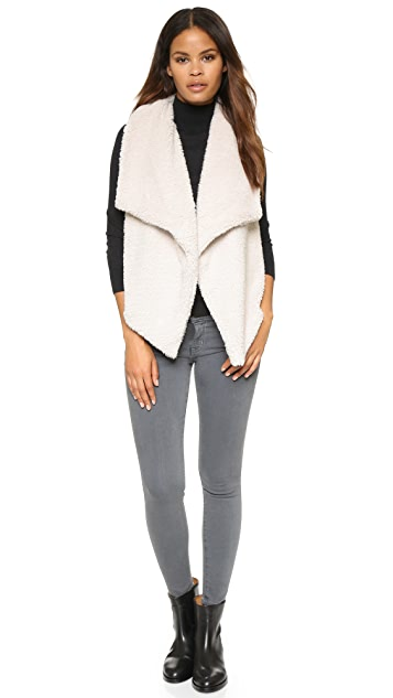 BB Dakota Rennie Sweater Vest with Faux Fur