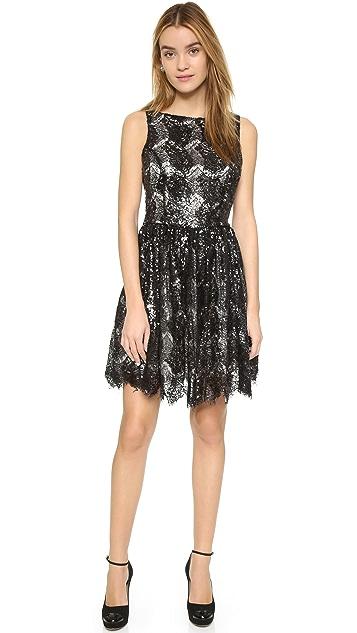 BB Dakota Sabrina Sequin Lace Dress