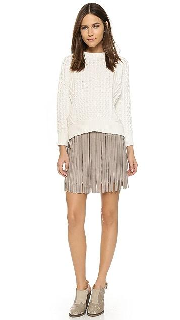 BB Dakota Fringe Skirt