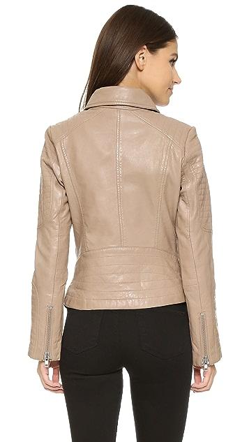 BB Dakota Elias Leather Moto Jacket