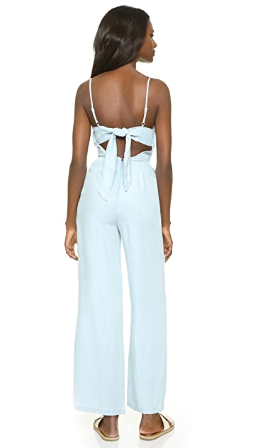 BB Dakota Elliot Denim Jumpsuit with Tie Back