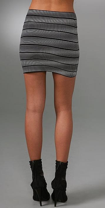 BCBGMAXAZRIA Striped Skirt