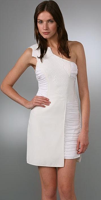 BCBGMAXAZRIA BCBGMAXAZRIA Runway One Shoulder Dress