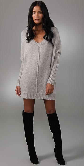 BCBGMAXAZRIA Oversized Sweater Dress