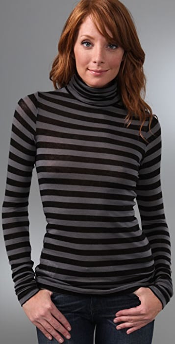BCBGMAXAZRIA Striped Turtleneck