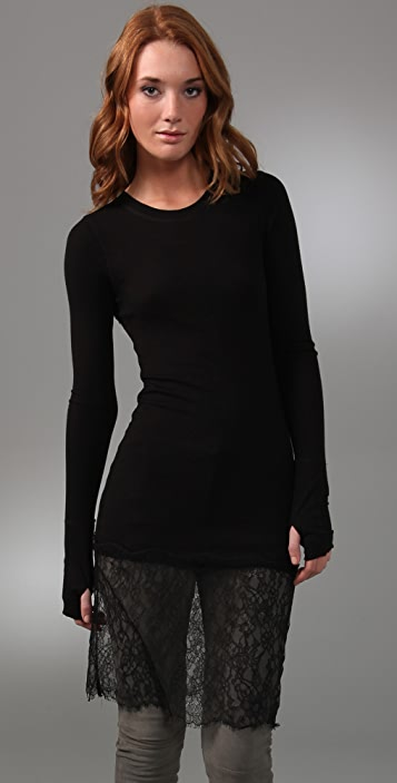 BCBGMAXAZRIA Lace Bottom Top