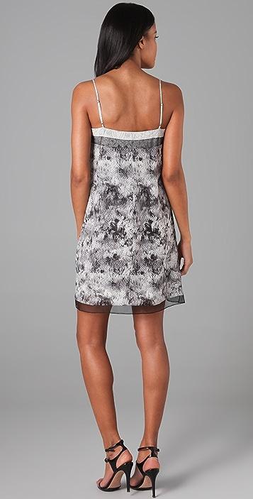 BCBGMAXAZRIA Hanne Lace Print Dress