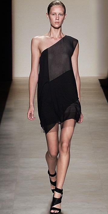BCBGMAXAZRIA Marike One Shoulder Dress
