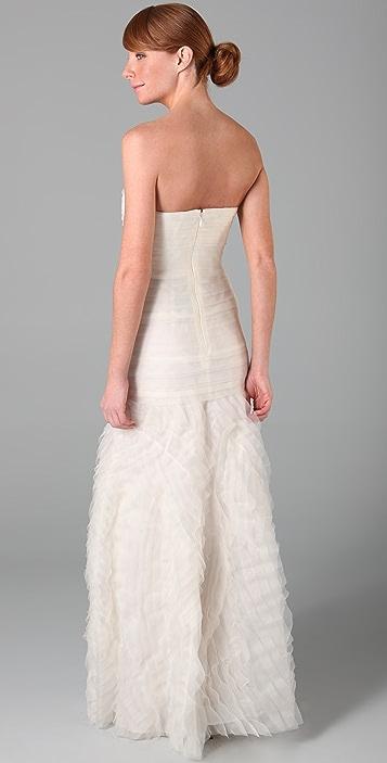 BCBGMAXAZRIA Marisa Layered Bridal Gown