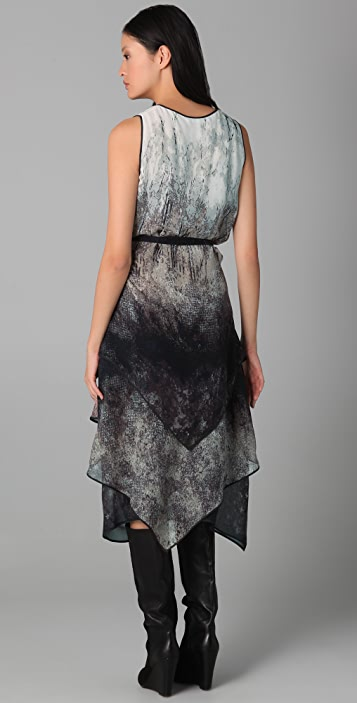 BCBGMAXAZRIA Janette Abstract Forest Print Dress
