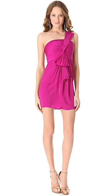 BCBGMAXAZRIA Palais One Shoulder Dress