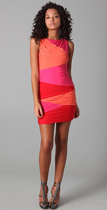 BCBGMAXAZRIA Sleeveless Colorblock Dress