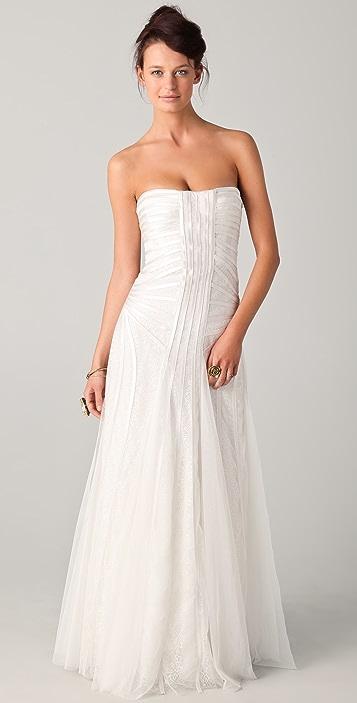 BCBGMAXAZRIA Magnolia Strapless Gown
