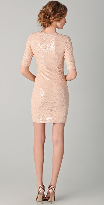 BCBGMAXAZRIA Marta Sequin Dress
