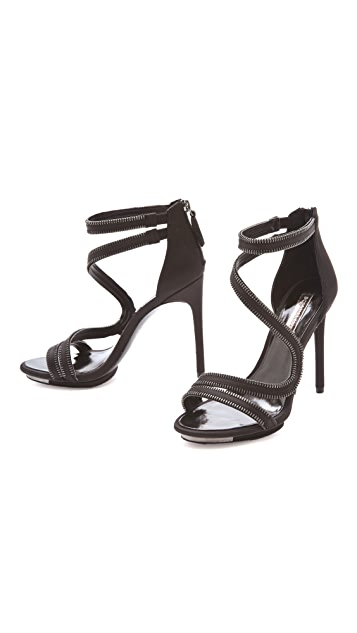 BCBGMAXAZRIA Leela Zipper Sandals