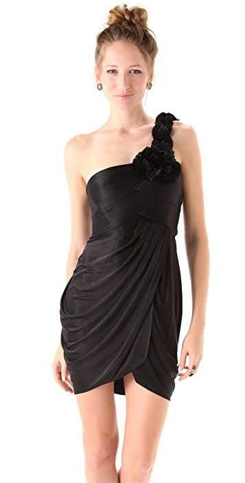 BCBGMAXAZRIA One Shoulder Dress