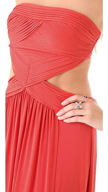 BCBGMAXAZRIA Baile Cutout Gown
