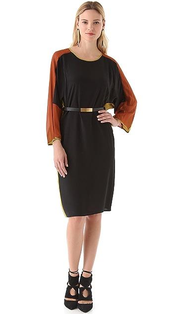 BCBGMAXAZRIA Darya Colorblock Dress