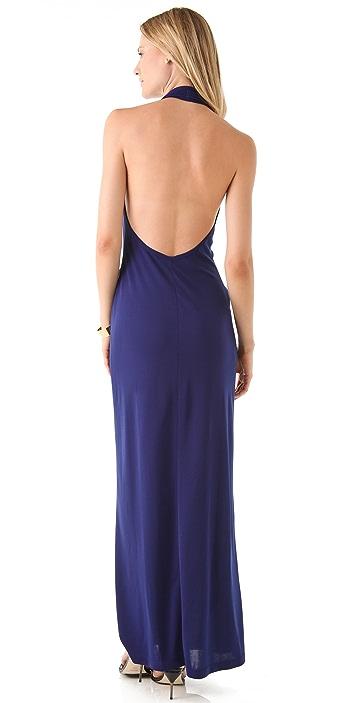 BCBGMAXAZRIA Keya Halter Gown