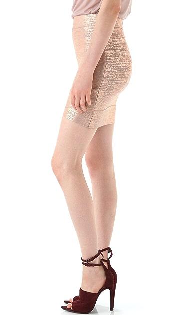 BCBGMAXAZRIA Silvie Cross Hem Miniskirt