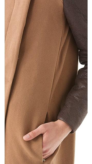 BCBGMAXAZRIA Genova Coat with Contrast