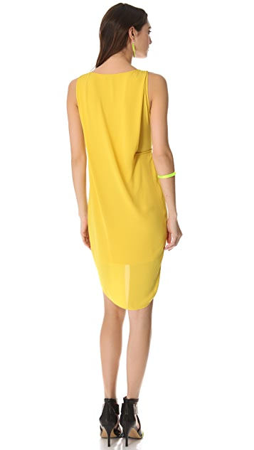 BCBGMAXAZRIA Audra Draped Dress