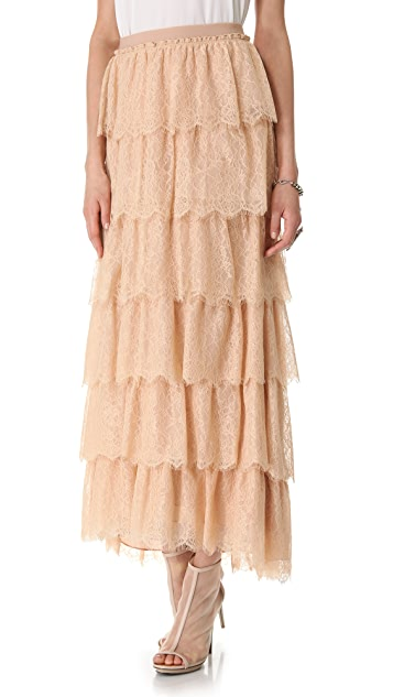 BCBGMAXAZRIA Edita Ruffle Skirt