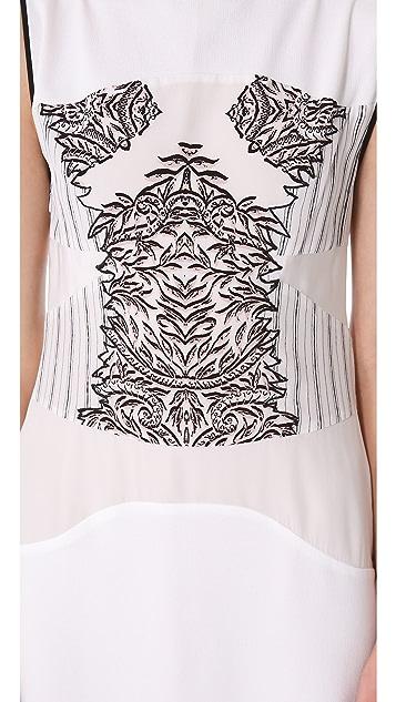 BCBGMAXAZRIA Printed Sleeveless Dress