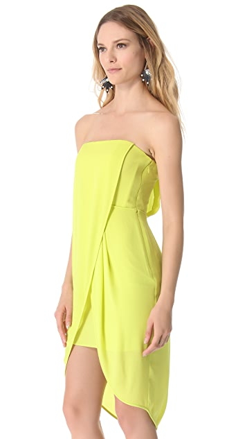 BCBGMAXAZRIA Strapless Drape Dress
