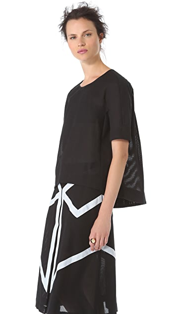 BCBGMAXAZRIA Scoop Neck Tee