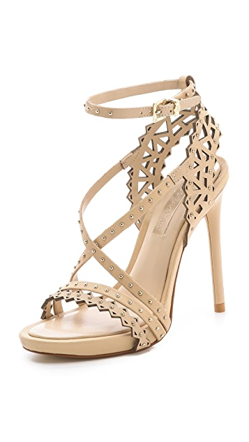 0f94f5126b4 BCBGMAXAZRIA Esra Laser Cut Sandals