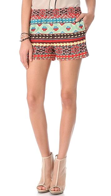 BCBGMAXAZRIA Printed Shorts